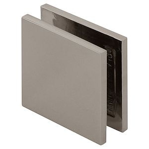 Square Wall Mount Hole-In-Glass Clamp