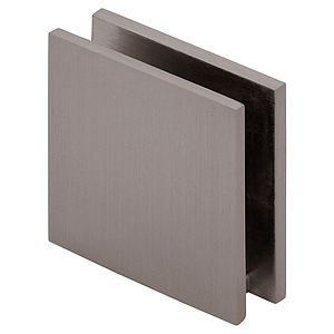 Square Wall Mount Clamp - Notch In Glass