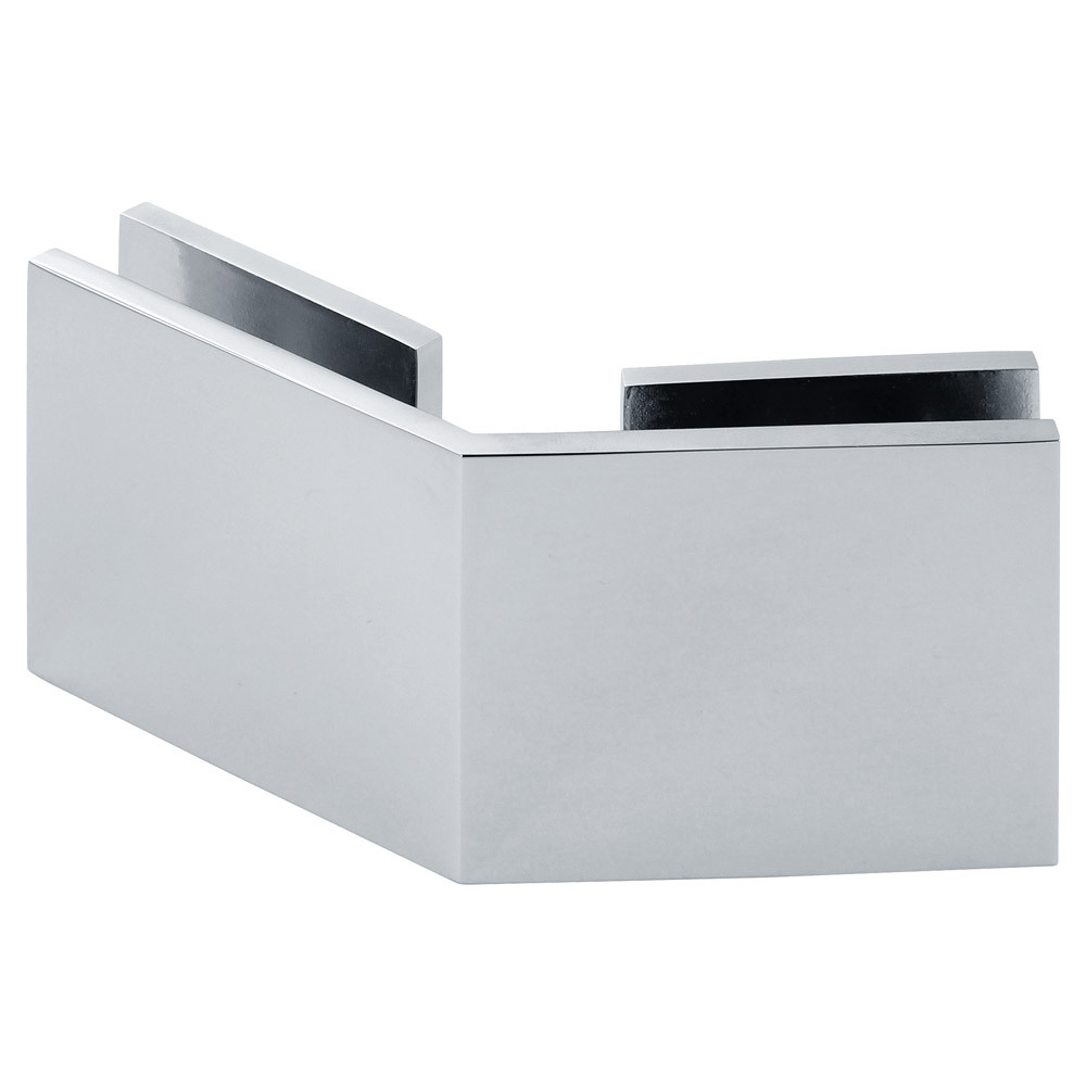 Square 135 Degree Glass-to-Glass Clamp