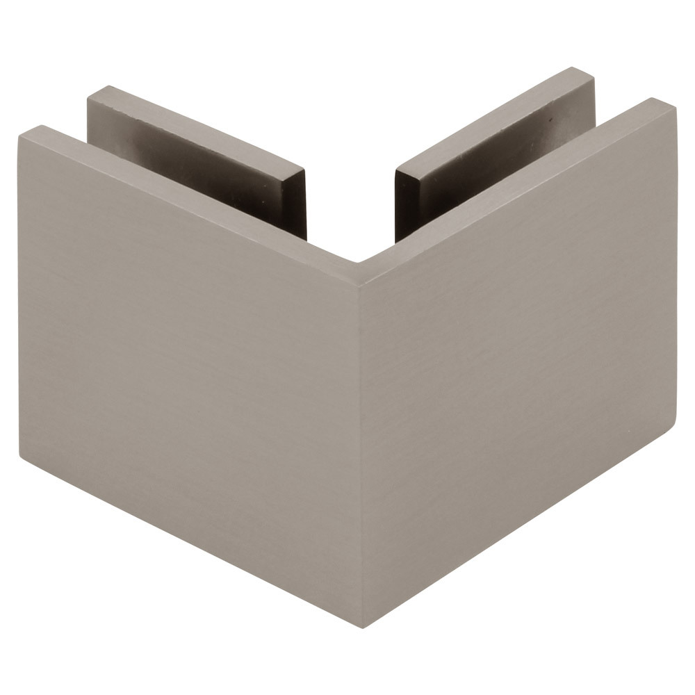 Square 90 Degree Glass-to-Glass Clamp