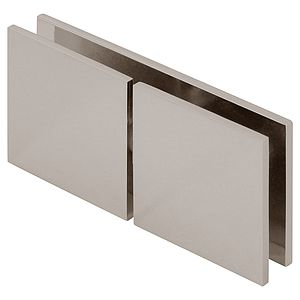 """Square 180 Degree Glass to Wall """"Y"""" Inline Clamp"""