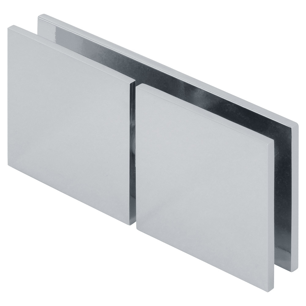 "Square 180 Degree Glass to Wall ""Y"" Inline Clamp"
