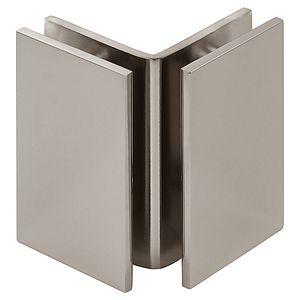 Square 90 Degree Glass-to-Glass Bracket