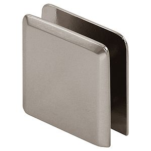 Beveled Wall Mount Hole-in-Glass Clamp