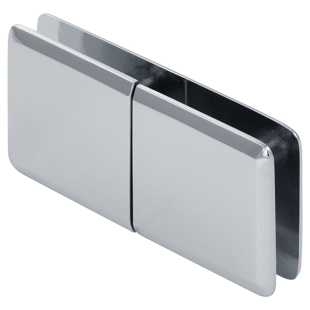 """Beveled 180 Degree Glass to Wall """"Y"""" Inline Clamp"""