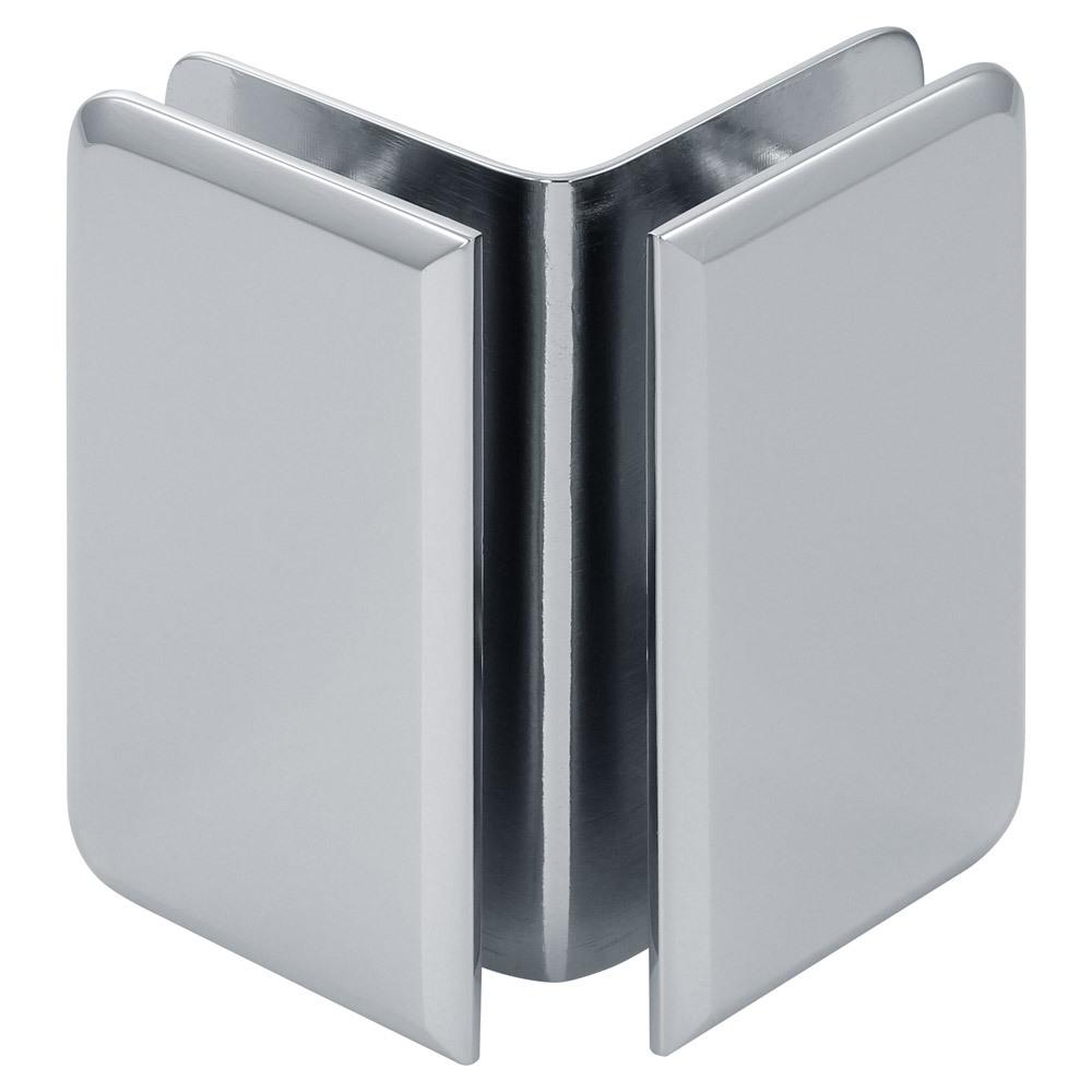 Beveled 90 Degree Glass-to-Glass Bracket