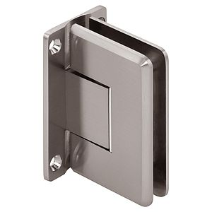 Pluto Zero Adjustable Wall-Mount Beveled Standard Full Back Shower Hinges with Scallop