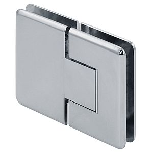 Pluto 180 Degree Zero Adjustable Glass-to-Glass Beveled Standard Shower Hinges