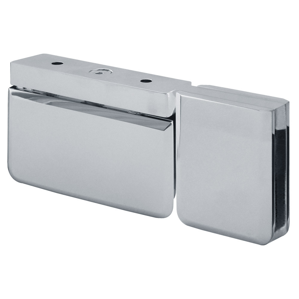 Saturn Beveled Top Bottom Pivot Hinge With 180 Degree Attached U-Clamp