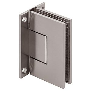 Venus Wall Mount Square Full Back Zero Position Adjustable Shower Hinges, with Scallop
