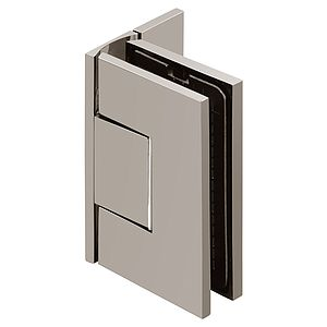 Venus Wall Mount Square Offset Back Zero Position Adjustable Shower Hinge Cover Plates with Scallop