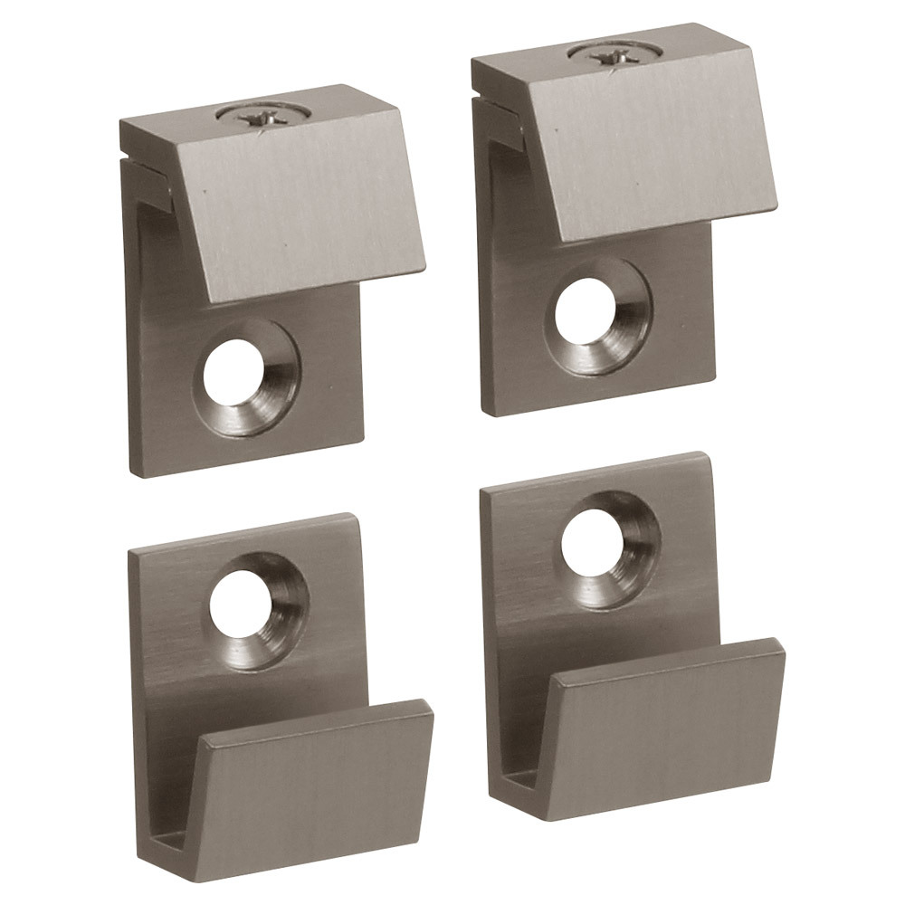 "5/8"" Wide Beveled Mirror Clips For 1/4"" (6mm) Mirrors"