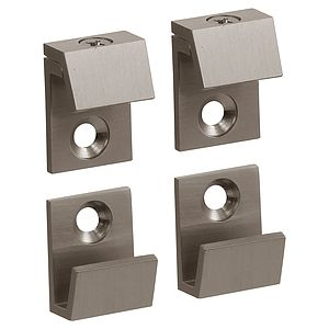"""5/8"""" Wide Beveled Mirror Clips For 1/4"""" (6mm) Mirrors"""