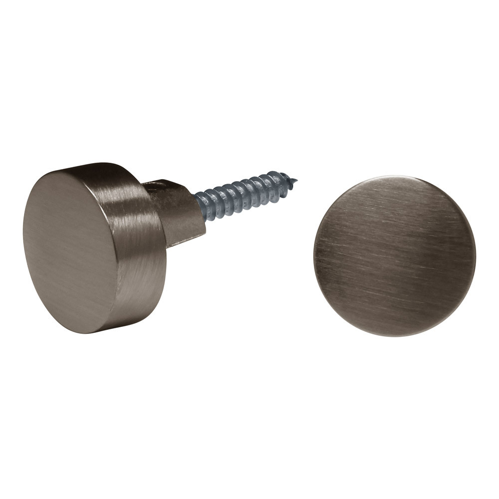 """3/4"""" Round Mirror Clips For 1/4"""" (6mm) Mirrors"""