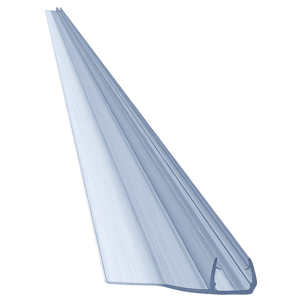 """80"""" PVC Seal, Soft Edge, 32mm for 3/8"""" (10mm) Glass"""