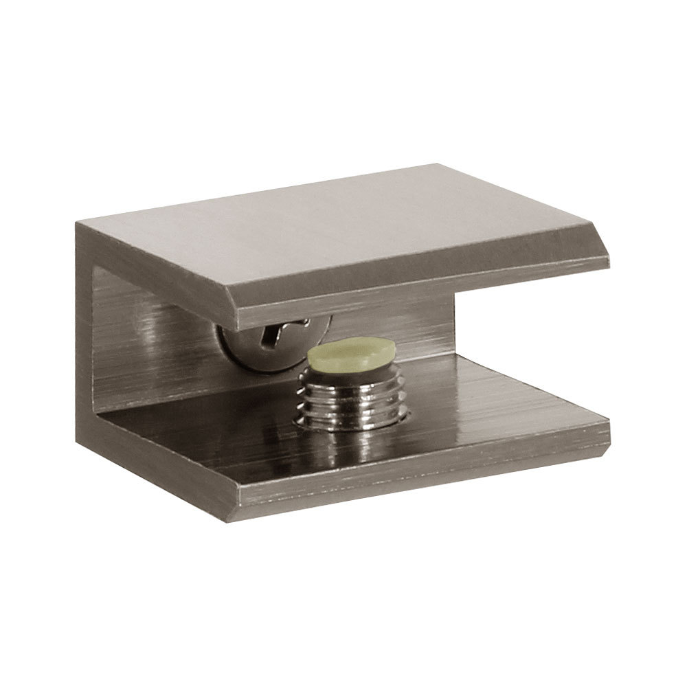"""Shower Interior Shelf Square Clamp for 5/16"""" (8mm) to 3/8"""" (10mm) Glass"""