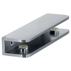 """Shower Interior Shelf Clamp Rectangle for 5/16"""" (8mm) to 3/8"""" (10mm) Glass"""