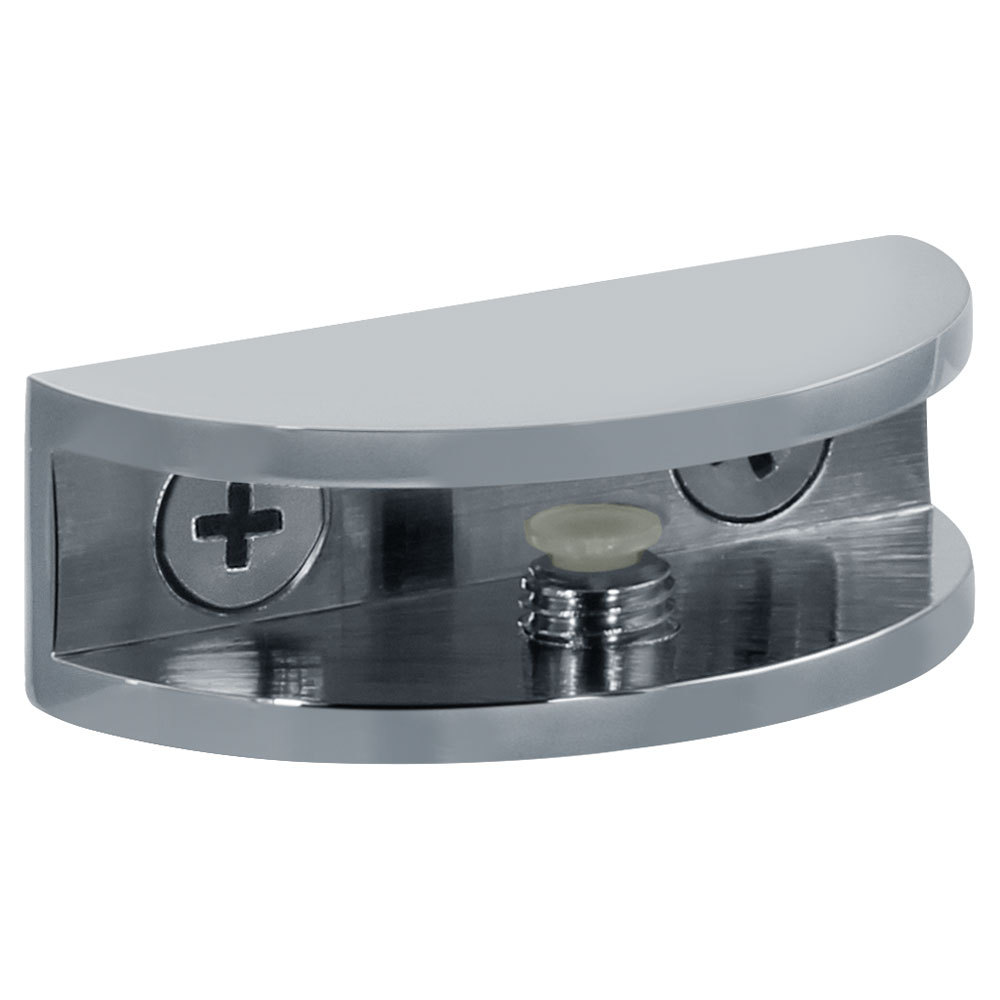 """Shower Interior Shelf Round Clamp for 5/16"""" (8mm) to 3/8"""" (10mm) Glass"""