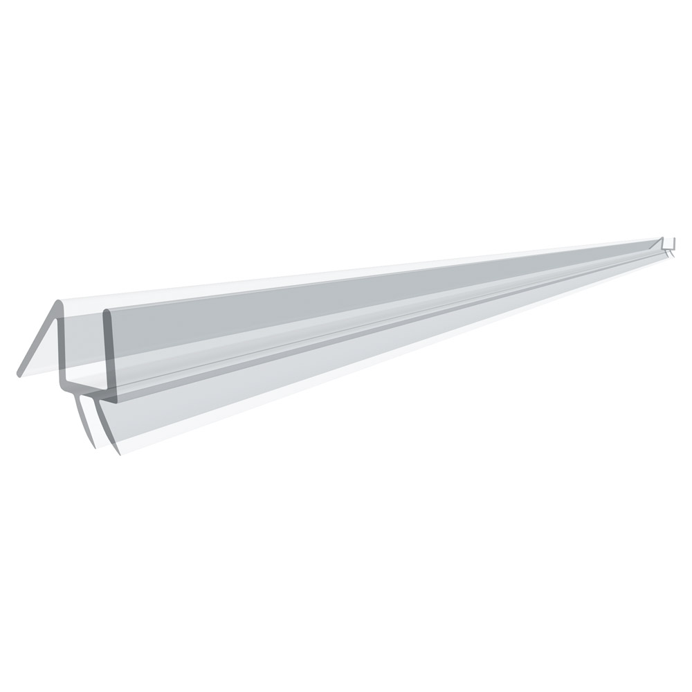 "36"" Clear Bottom Wipe with Drip Rail for 1/2"" (12mm) Glass"