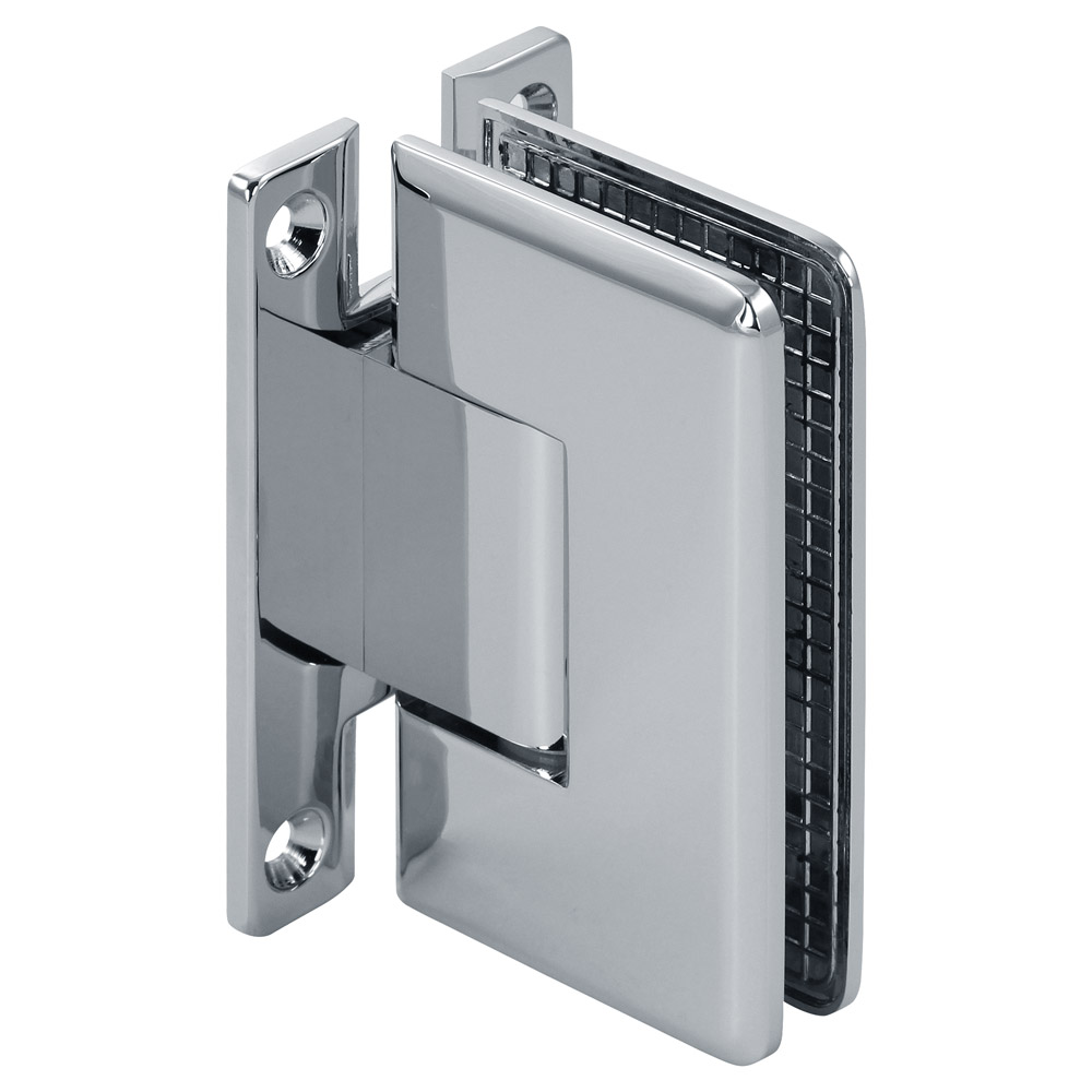 "Pluto Adjustable Wall Mount Beveled ""H"" Back Shower Hinge"