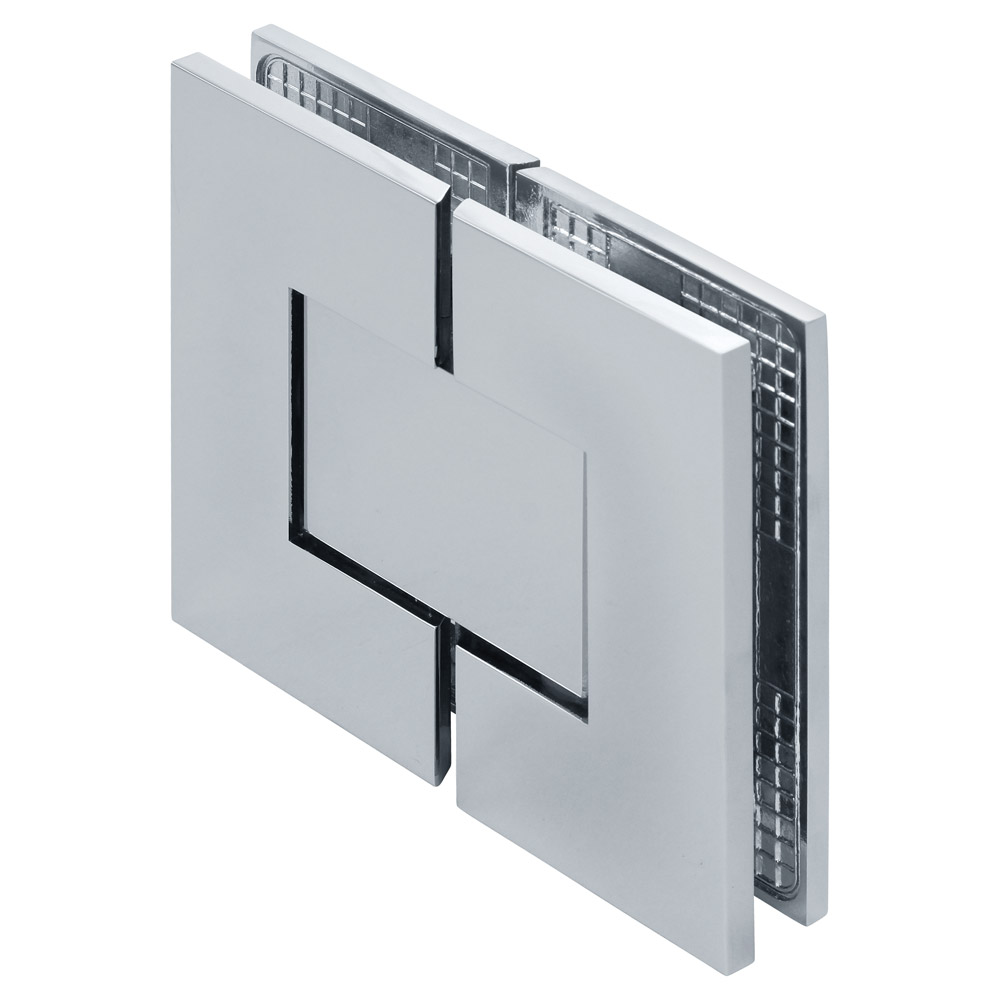 Venus 180 Degree Glass-to-Glass Square Zero Position Adjustable Shower Hinge Cover Plates