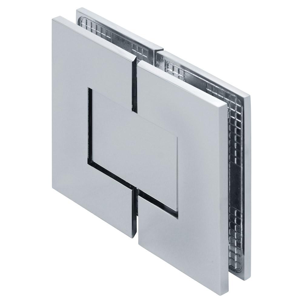 Venus 180 Degree Glass-to-Glass Square Zero Position Adjustable Shower Hinge Cover Plates