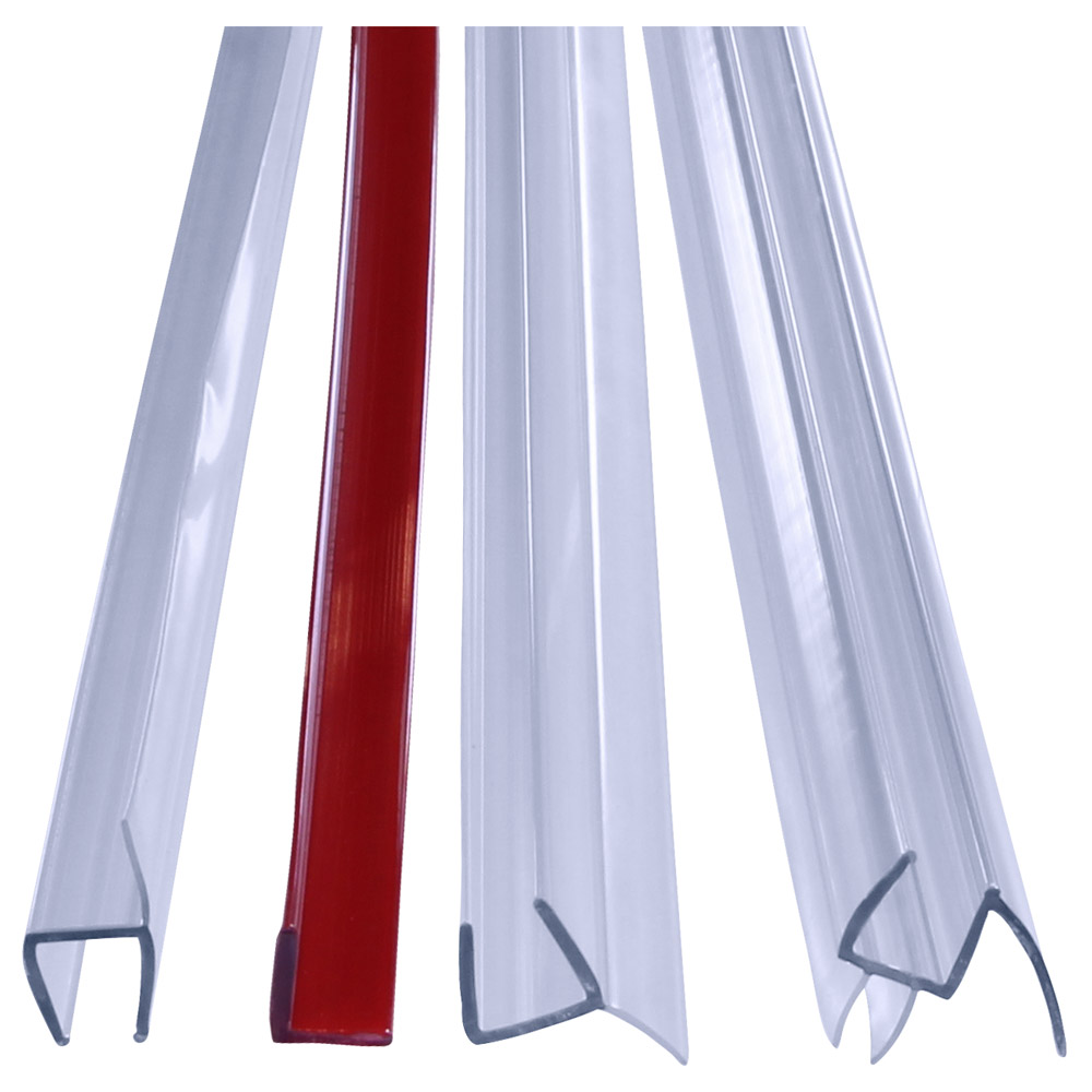 """95"""" Plastic Sweep Kit for Inline and Most 90 Degree Shower Doors with 3/8"""" (10mm) Glass"""